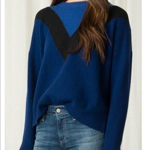 Margaret O'Leary Colleen color block wool sweater